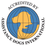 Assistance Dogs International logo certifying accreditation